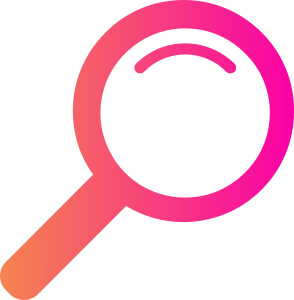 Magnifying Glass With Gradient from orange to pink